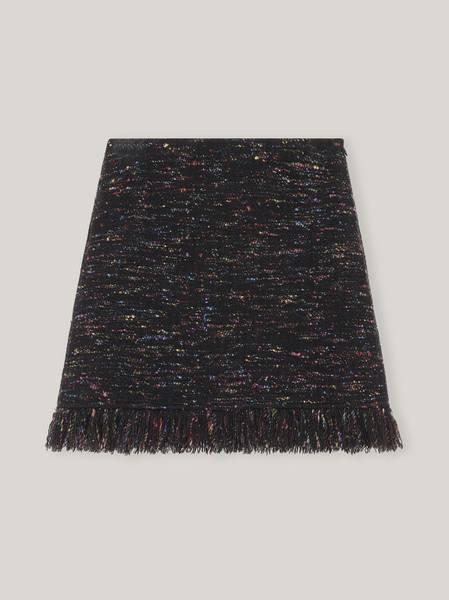 Bilde av Ganni F6184 Wool Fringe Mini