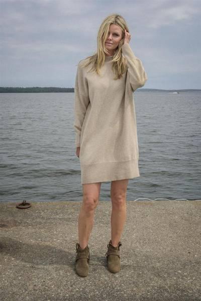 Bilde av Arnie Says Ava Dress Beige